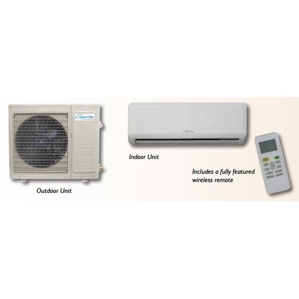 SYSTEM MINI SPLIT HEAT PUMP 24 ! MBH 230/1 15 SEER COMFORT AIR, item number: DVH24SD-1