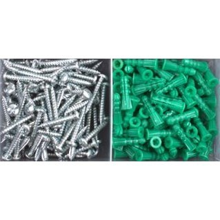 KIT ANCHOR PLASTIC (100 PACK) HEX WITH 5/16in DRILL CHUCK EMC, item number: EPA4HC