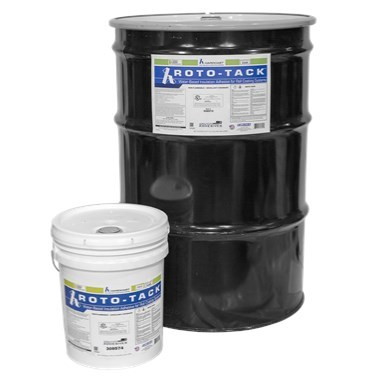 ADHESIVE INDOOR CLEAR 50 gal WATER BASED ROTO-TACK HARDCAST, item number: GG925-50