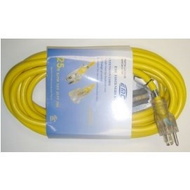 EXTENSION CORD WITH LED PLUG 50ft 12/3 EMC, item number: LED12-50