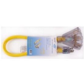 EXTENSION CORD WITH 3 PLUG HEAD 12/3 EMC, item number: LEDPB12-2