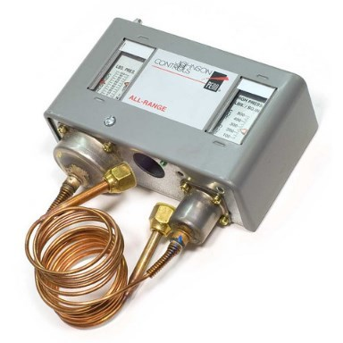 DUAL PRESSURE CONTROL 20in-100# 100#-500# SPST JOHNSON CONTROLS, item number: P70LB-1C