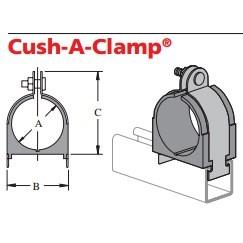 "CUSH A CLAMP ASSEMBLY 1/2"" POWER STRUT (25)"