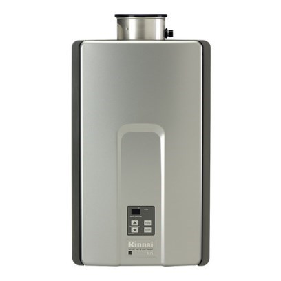 WATER HEATER TANKLESS 82% NAT 7.5 gpm RINNAI 180,000 BTUH