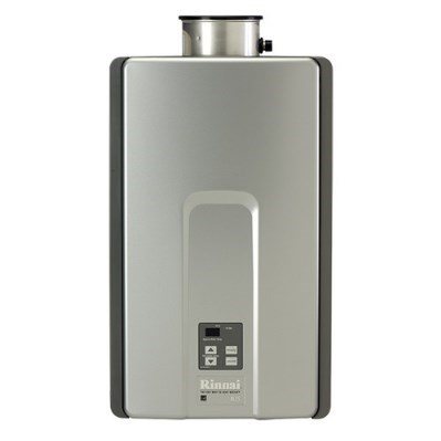 WATER HEATER TANKLESS 82% LP 7.5 gpm RINNAI 180,000 BTUH