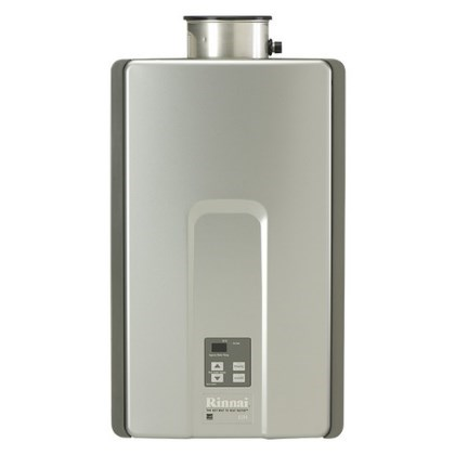 WATER HEATER TANKLESS 82% LP 9.4 gpm RINNAI 199,000 BTUH, item number: RL94IP